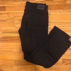 Levi's made and crafted black denim jeans /men's